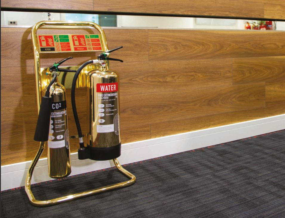 Fire extinguisher Gold